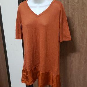 NWT Soft Surrounding Orange Top Size L